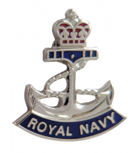 Royal Navy RN Crown and Anchor Pin Badge - MOD Approved - M2